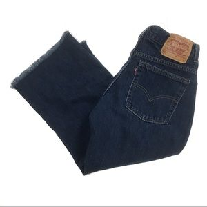Levi's 577 Raw Hem Cropped Jeans Made in USA